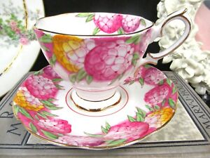 ROYAL-ALBERT-tea-cup-and-saucer-CANDYTUFT-painted-pink-floral-teacup-set