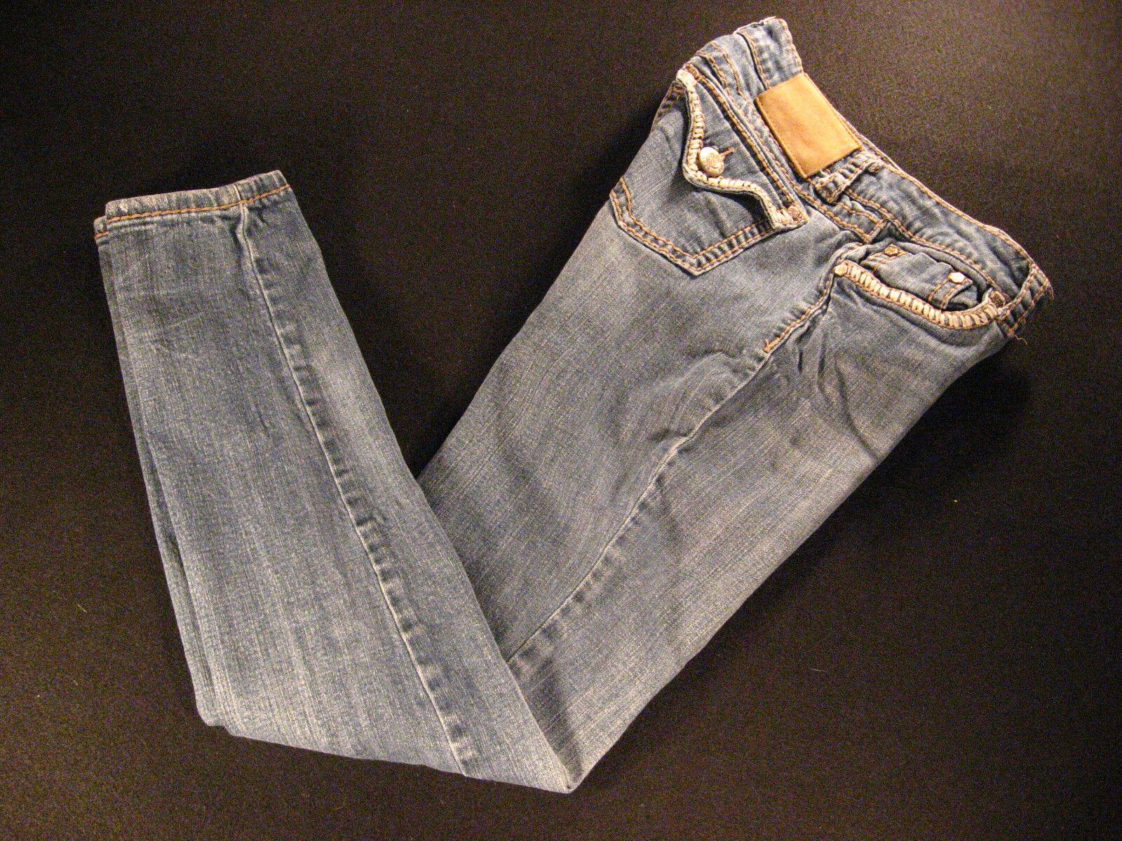 LA Idol USA Womens Jeans 28 x 30 MEASURED Low-Rise DISTRESSED Tag  7