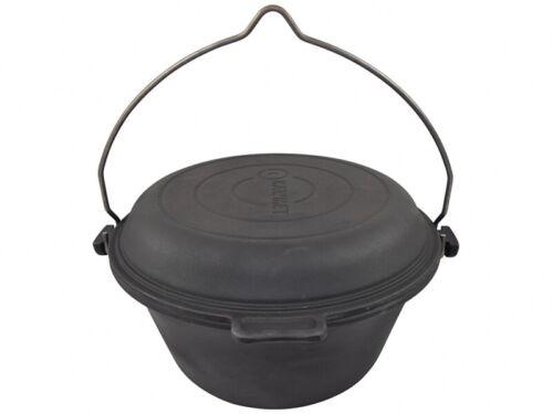 9 L Original Cast Iron hongrois Goulasch Marmite Chaudron avec Solide Pan Cover Couvercle