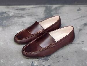 Spring-Men-Slip-On-Real-Leather-Loafers-Breathable-Moccasins-Gommino-Shoes-Solid