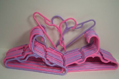 24 LAVENDER-PINK Doll Clothes Hanger For American Girl 12 of each color Debs