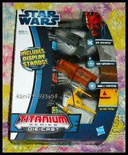 Trade Federation MTT /& Naboo 3-Pack Star Wars Titanium Vehicle Sith Infiltrator