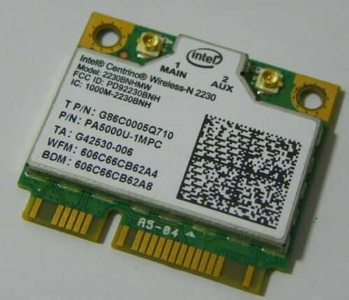 New Toshiba G86C0005Q710 Intel Centrino Wireless-N 2230 2230BNHMW b//g//n BT Half