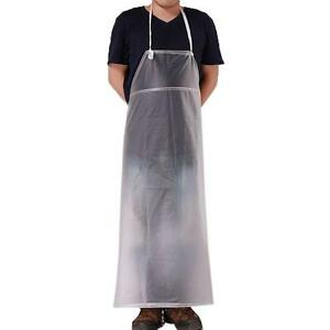 Easy Clean Plastic Waterproof PVC Kitchen Apron Industrial Bib Smock Cleaning W