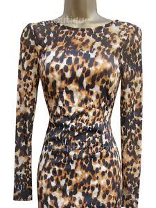 02b734055cb New KAREN MILLEN Leopard Animal Print BNWT £170 Party Evening Dress ...