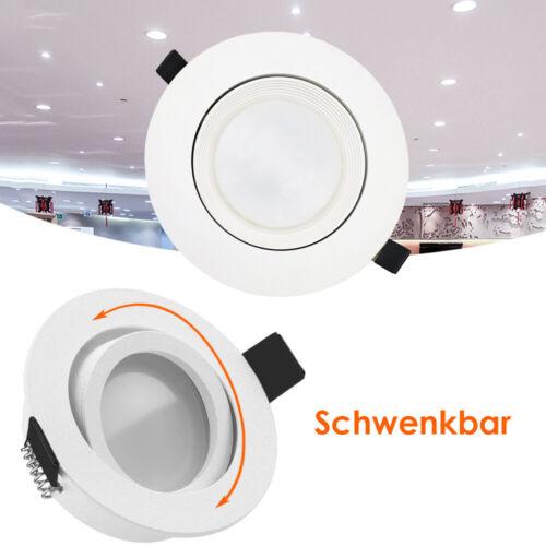 5X LED Spot Einbaustrahler Set Einbauleuchte Deckenleuchte Strahler 7W