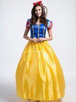 Märchen Schneewittchen Prinzessin Damen Kostüm Lang Kleid