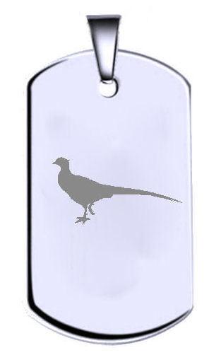 Faisán silver de Ley Grabado Nombre Texto Militar Chapa Identificativa