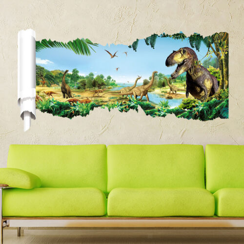 Dinosaur Garden Wall Decals Baby Nursery Kids Bedroom Stickers Art Decor