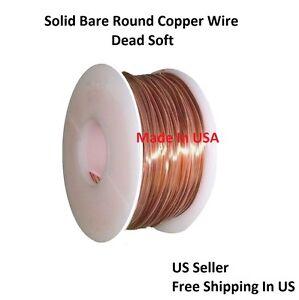 Spool Solid Copper 100 Ft 18 Ga  Copper Wire  Round Soft  1//2 Lb