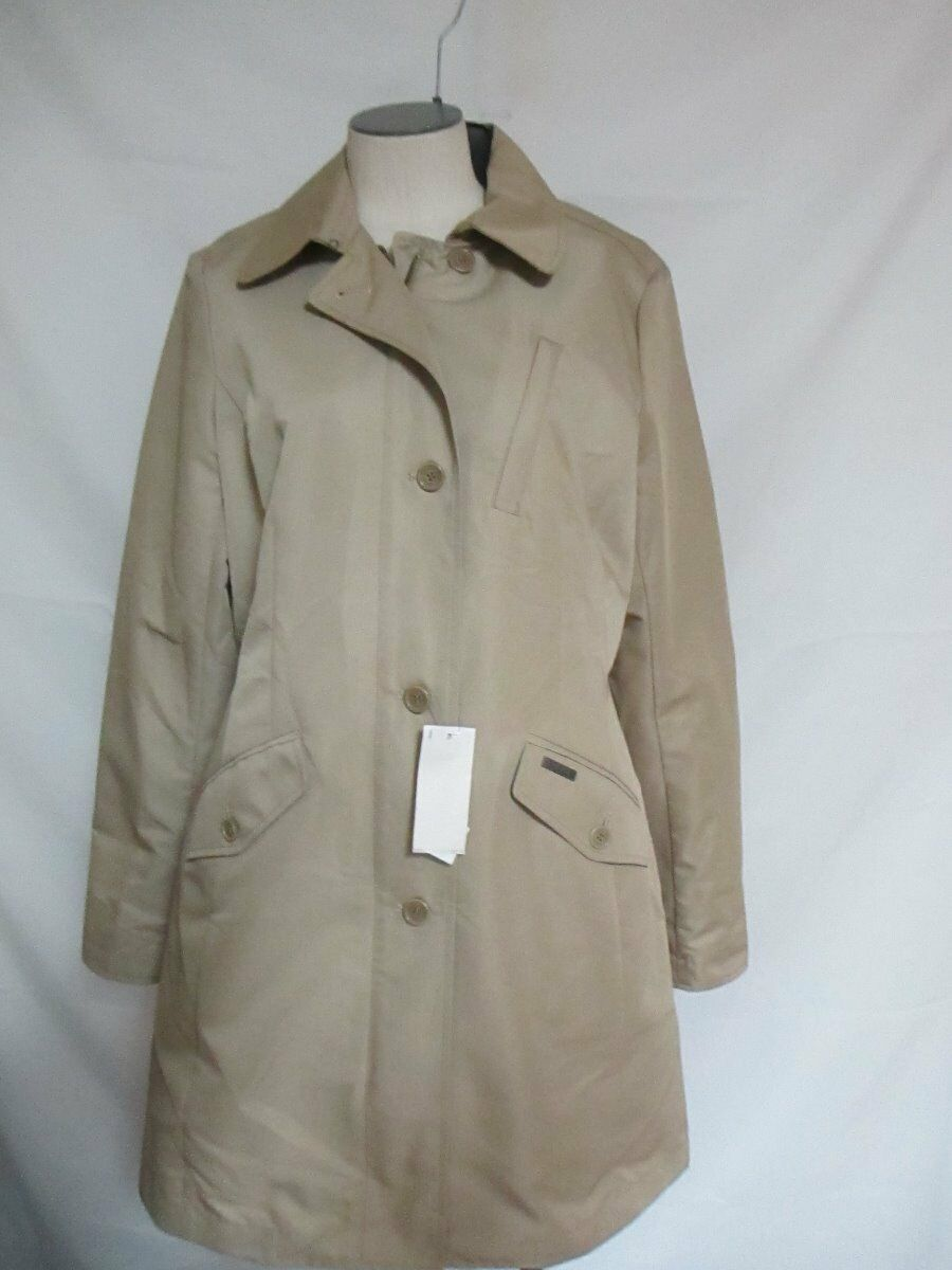 Woolrich Classic Water Repellent Single Breasted Trench  Beige  NWT