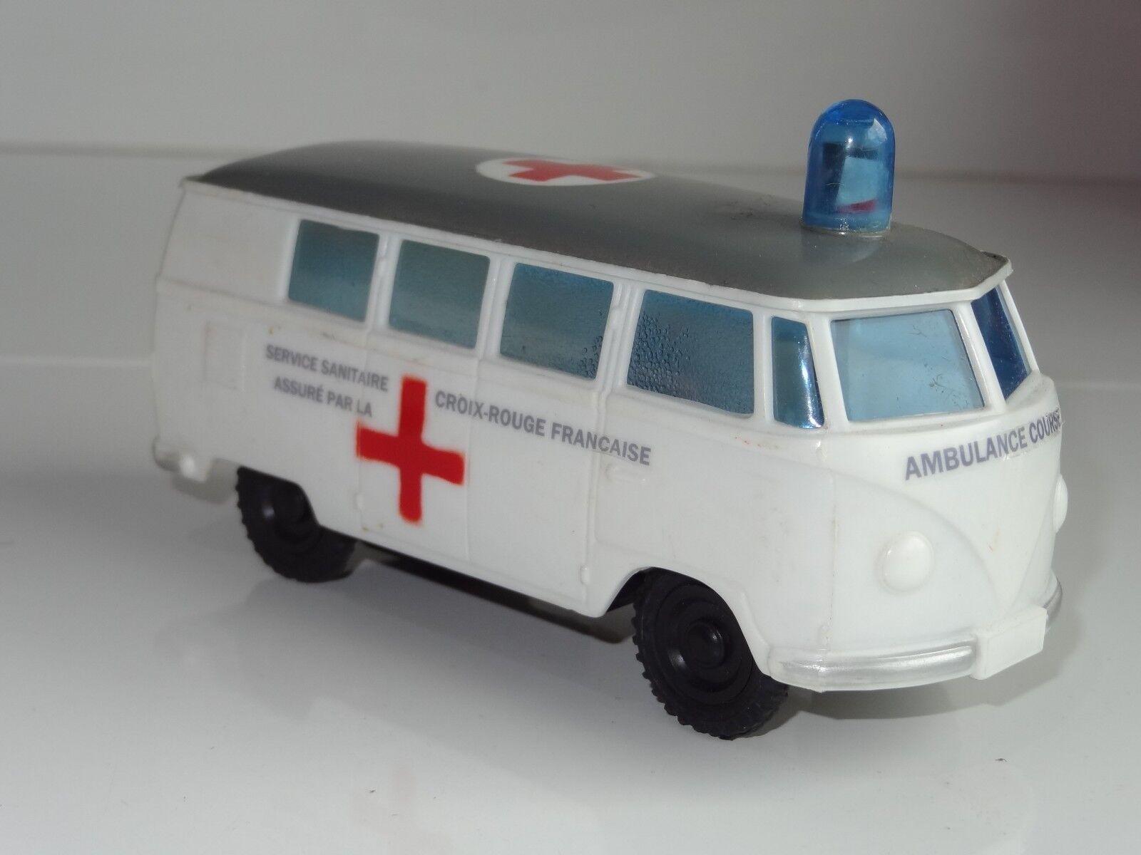 (S) OK Lucky Spielzeugs  Hong Kong PLASTIC VW VOLKSWAGEN SPLITTY AMBULANCE - 3357