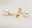 Ohrhanger-2-Stuck-Gold-ge-Ohrring-Perle-Damenschmuck-Ohrstecker-Perlen-Hochzeit miniatura 2