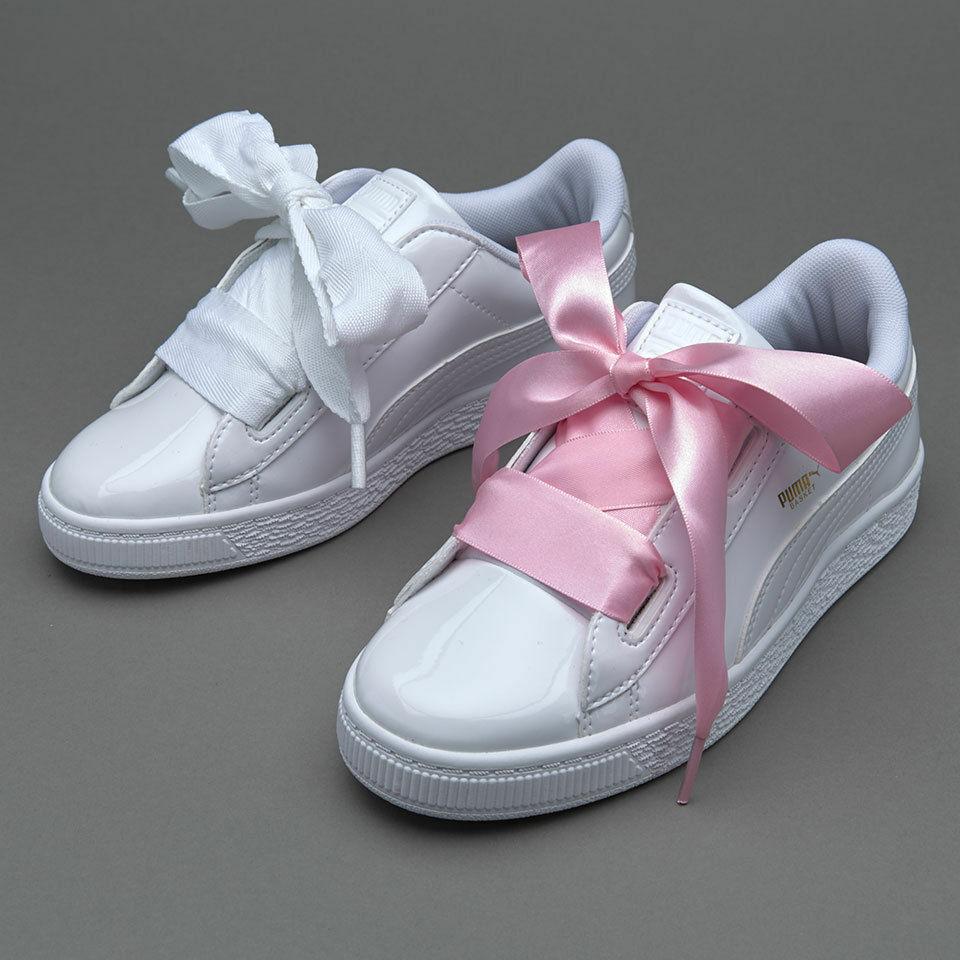 Puma Basket Heart White Patent Leather Rihanna Creeper