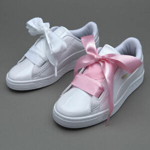 the best attitude 94efb 14bed Details about Puma Basket Heart White Patent Leather Rihanna Creeper