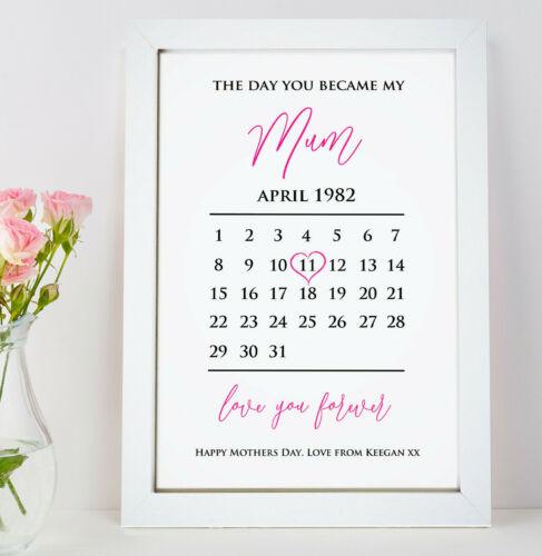 Personnalisé De Mères Jour Cadeau Pour Mum Maman Mamie Nanny Word Art cadeau