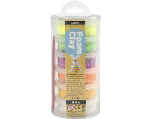 6 printemps ou Pâques Couleur Mousse argile baignoires pour enfants /& adultes Modélisation Artisanat