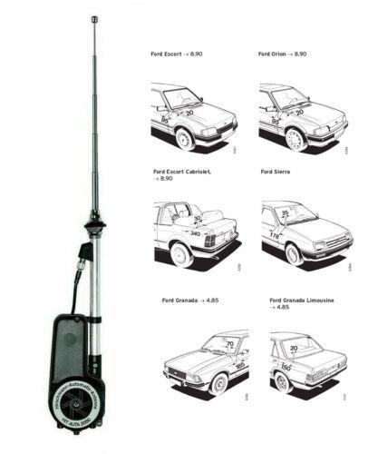 Antenne électrique Original Hirschmann télescopique pour Ford Escort Orion Granada