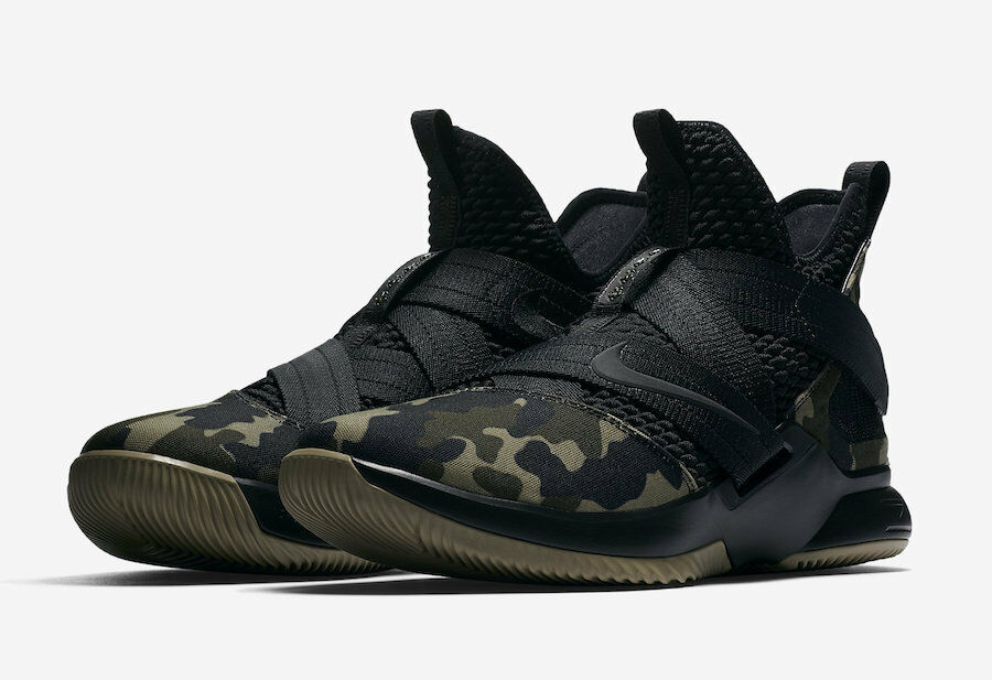 Nike lebron soldato xii sfg mimetico Uomo scarpa [48] rush ao4054-001 nero / hazel rush [48] f70258