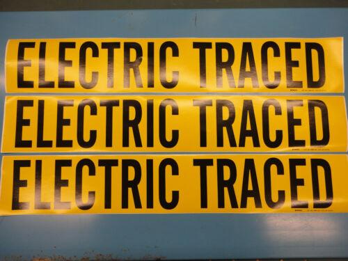 "/""Electric rastreado/"" 3 cuentan 4 /""X 24/"" Brady Decal Vinilo Pipa Marcador 7096-1hv"