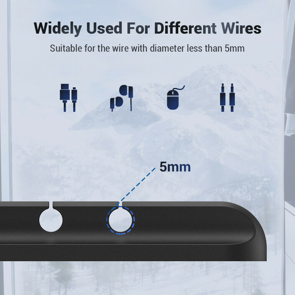 Silicone USB Cable Winder Desktop Management Clip Cable Holders Cable Organizer