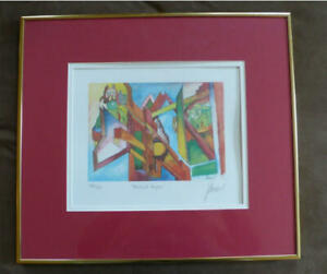 JERRY-GARCIA-SIGNED-AUTOGRAPH-FRAMED-034-ABSTRACT-ANGELS-034-LITHOGRAPH-GRATEFUL-DEAD