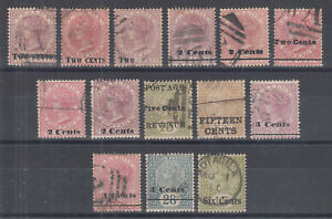 Ceylon-Sc-143-145-147-148-150-151-151D-152-153-155-157-159-used-1888-99-issues