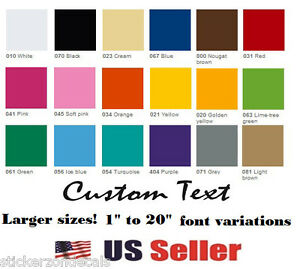 image is loading 3 034 custom vinyl lettering text personalized wall