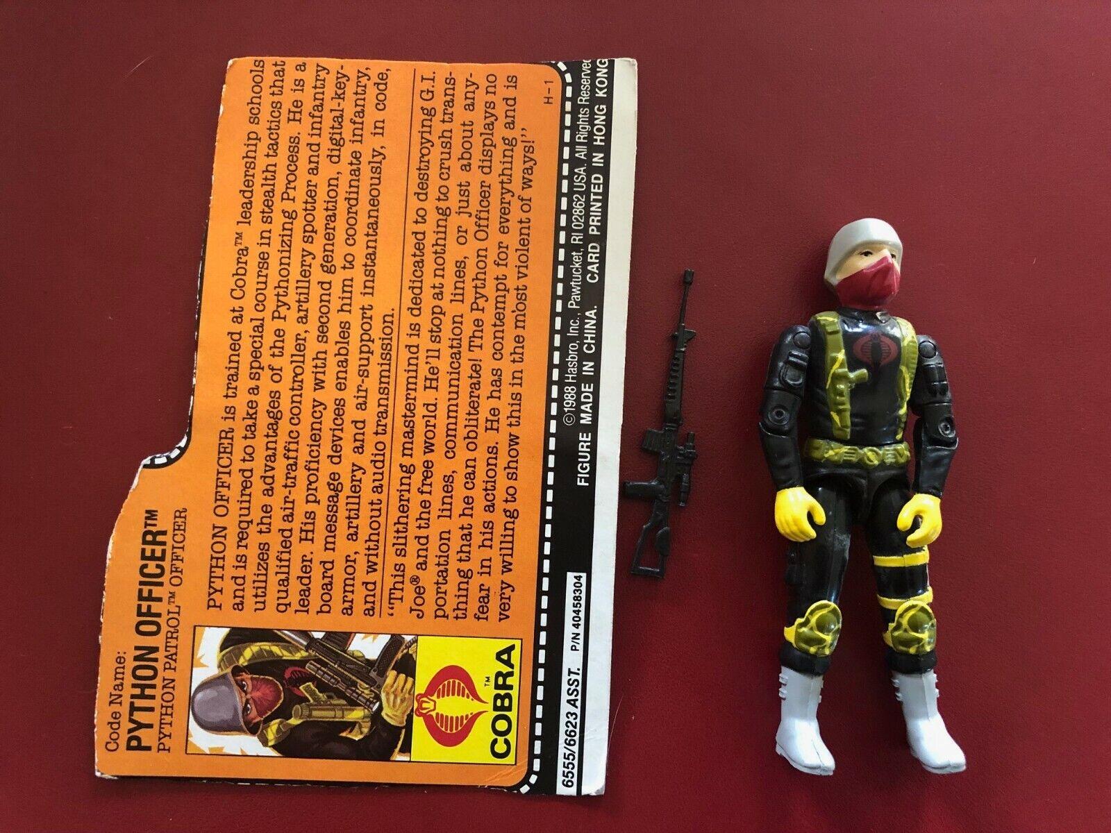 1989 GI Joe Cobra Python Patrol Officer v1 cifra w File autod completare