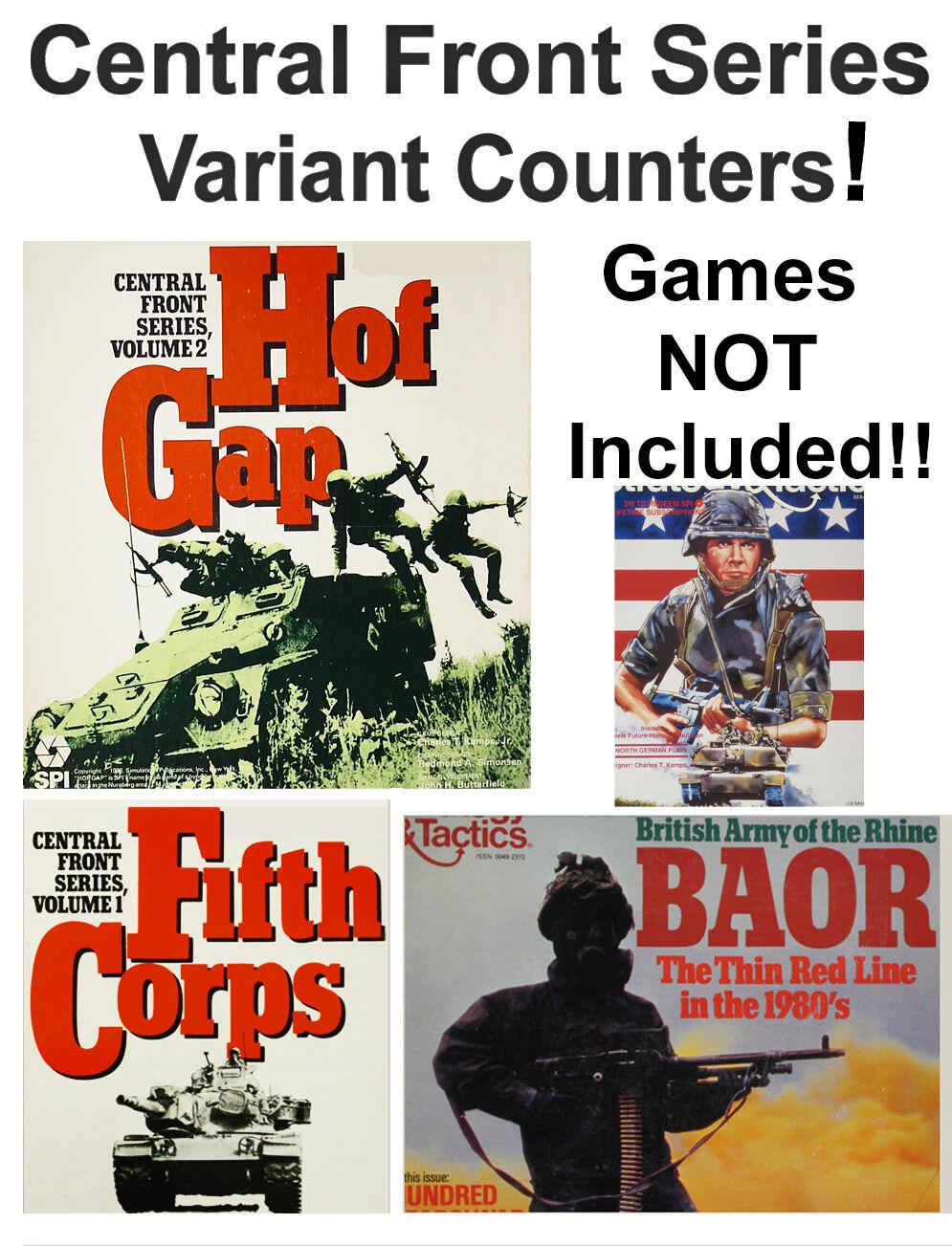 Central Front 1300 Variant Counters & Material  , EJ Inbegripet spel, SPI