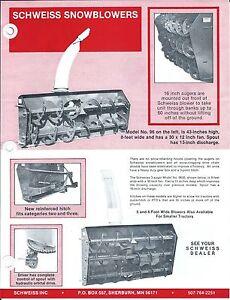Equipment-Brochure-Schweiss-96-et-al-Snow-Blowers-Price-List-1983-E3426