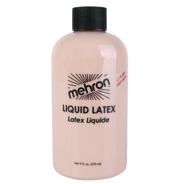 Liquid Latex Mehron 270ml Special Effects Prosthetics Halloween Flesh Make up