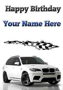 Bmw x5 birthday card a5 personalised greeting card happy birthday image is loading bmw x5 birthday card a5 personalised greeting card bookmarktalkfo