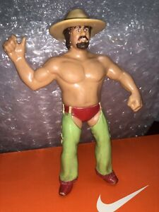 TERRY-FUNK-WWF-SUPERSTARS-VINTAGE-1985-LJN-8-034-ACTION-FIGURE-WITH-Hat