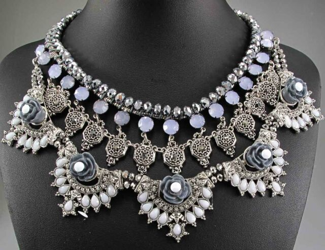 Christmas Gift Pendant Crystal Bib Statement charm chunky collar Necklace 620