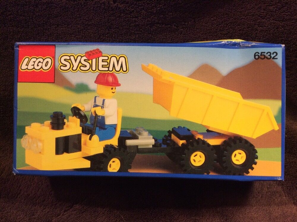 Vintage  LEGO SYSTEM Classic Town Construction Diesel Dumper 6532 SEALED NEW