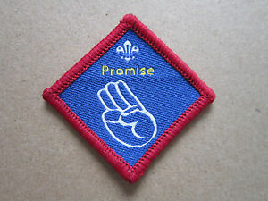 Promise-Challenge-Proficiency-Woven-Cloth-Patch-Badge-Boy-Scouts-Scouting