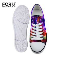 39f5fc760f Galaxy Low Top Canvas Shoes Women s Fashion Lace Up Sneakers Casual Sports  Shoes