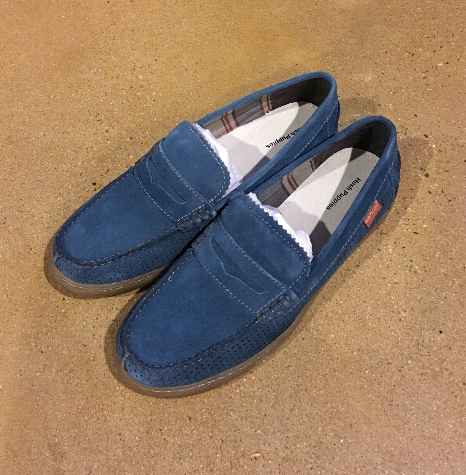 Scarpe casual da uomo Hush Puppies Tyson Thorpe IIV Size 12 Denim Oxford Loafers Slip On Casual Shoes