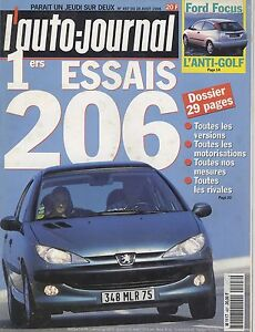 L-039-AUTO-JOURNAL-1998-n-497-Peugeot-206-806-Ford-Focus-Mercedes-CLK-320
