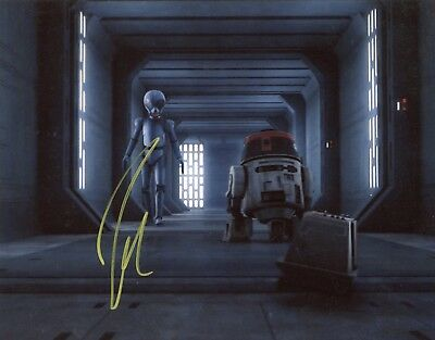"Television Humble ~~ Josh Gad Authentic Hand-signed ""star Wars Rebels"" 8x10 Photo C~~ Entertainment Memorabilia"