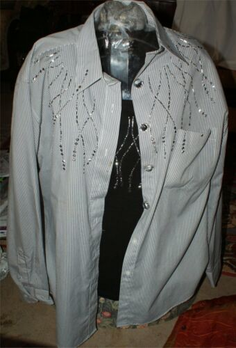 Chrome Large Striped X Hvid Stag larg Womens Under Shirt Lasolas Studded OSf4wnqOr