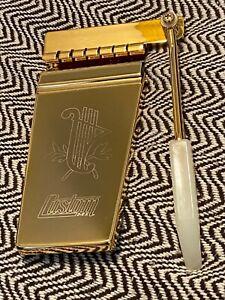 GOLD CUSTOM Engraved Lyre Long Maestro Vibrola for SG Firebird USA SELLER NEW
