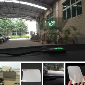 semi translucent car auto hud head up display reflective film sticker for toyota ebay. Black Bedroom Furniture Sets. Home Design Ideas