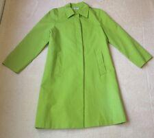 Women's Philosophy Di Alberta Ferretti Solid Green Long Coat Jacket Size 8 EUC