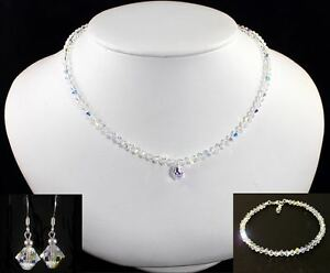New-Crystal-AB-Necklace-Earrings-and-Bracelet-Set-made-with-Swarovski-Elements