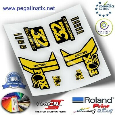 Stickers Horquilla Fork Stickers Gabel Aufkleber Fox 32 Step Cast Series Wp238