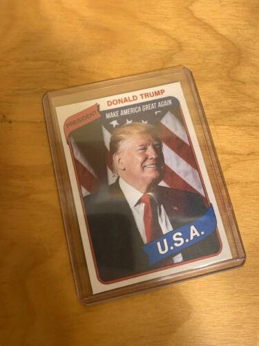 Donald Trump Novelty Custom 1980 Style Presidential Baseball Card