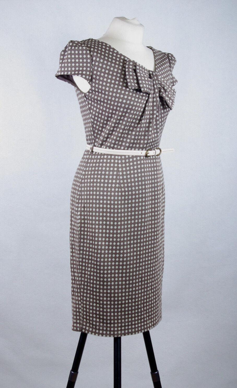 P437 49 Per Una Vegan Friendly Acrylic Blend Elegant WW2 Style Pencile Dress ,8