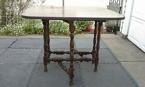 Antique Wooden Gate Leg Drop Leaf Table Early 1900's // {Reduced Price}